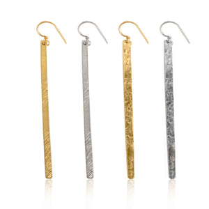 Hammered Bar Earrings