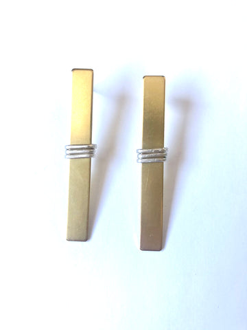 Brass Rectangle Wrap Post