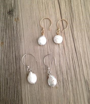 Handcrafted Jewelry - Freshwater Pearl Earring