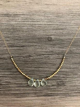 Load image into Gallery viewer, Handcrafted Jewelry-Triple Prehnite Necklace on Gold-Filled Chain