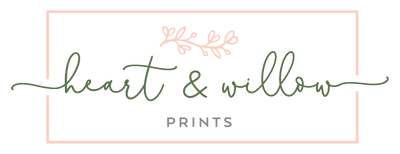 Heart & Willow Prints