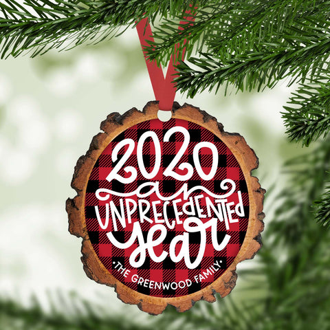 2020 an unprecedented year funny 2020 personalized christmas ornament