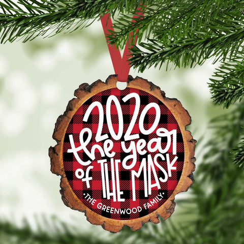 2020 the year of the mask  funny 2020 personalized christmas ornament