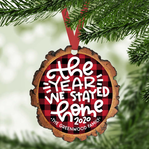 The year we stayed home funny 2020 personalized christmas ornament