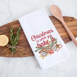 Christmas is what you bake it holiday kitchen hand towel