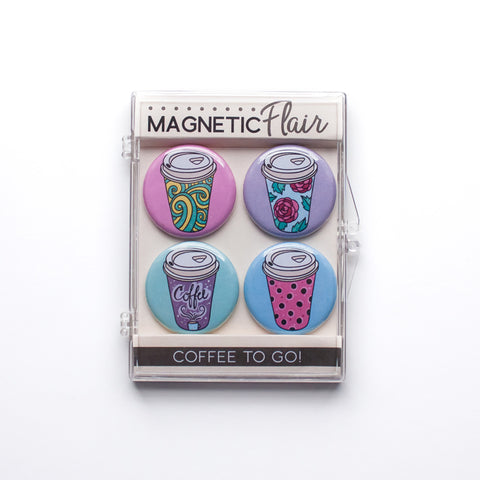 Coffee To Go Magnet Set