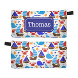 Nautical Sea - Zipper Pouch, Pencil Case, Makeup Bag