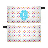 Hearts - Zipper Pouch, Pencil Case, Makeup Bag