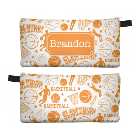 Basketball - Zipper Pouch, Pencil Case, Makeup Bag