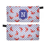 Nautical Crabs - Zipper Pouch, Pencil Case, Makeup Bag