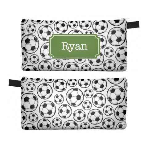 Soccer - Zipper Pouch, Pencil Case, Makeup Bag