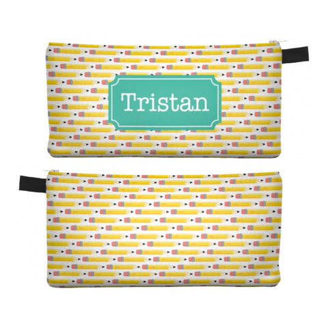 Yellow Pencils - Zipper Pouch, Pencil Case, Makeup Bag