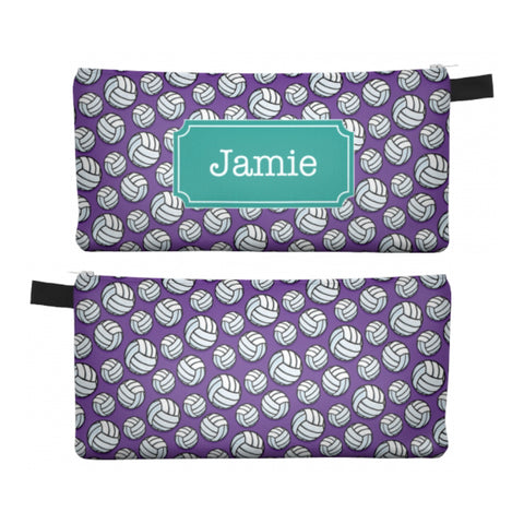 Volleyball - Zipper Pouch, Pencil Case, Makeup Bag