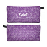Purple Cute Cat - Zipper Pouch, Pencil Case, Makeup Bag