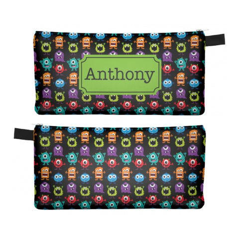 Monsters - Zipper Pouch, Pencil Case, Makeup Bag