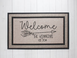 Arrow Welcome Mat