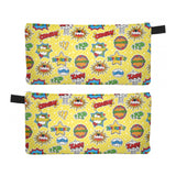 Superhero Comic Yellow - Zipper Pouch, Pencil Case, Makeup Bag