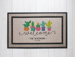 Cactus Welcome Door Mat