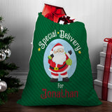 Green Santa Sack - Santa Gift Bag