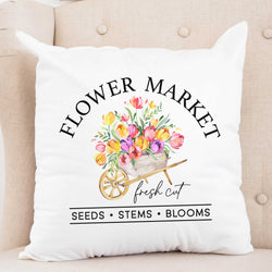 Flower Market Spring Pillow Cover