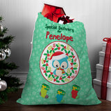 Winter Owl Santa Sack - Santa Gift Bag
