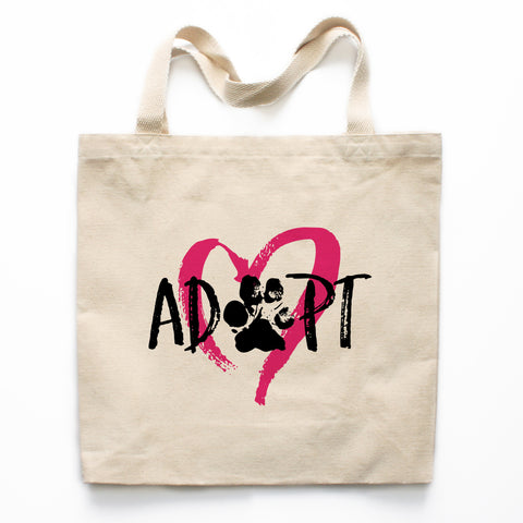 Adopt A Pet Canvas Tote Bag