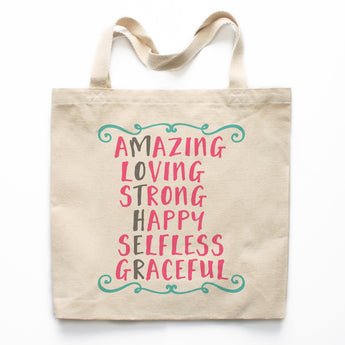 Amazing Mother Canvas Tote Bag