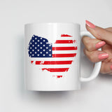 American Flag Heart Patriotic Mug