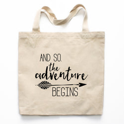 And So The Adventure Begins Canvas Tote Bag