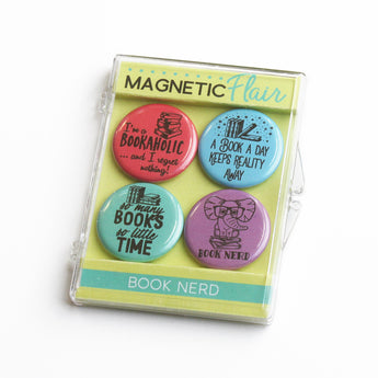 Book Nerd Magnet Set