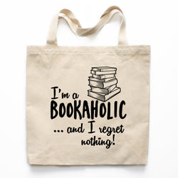 Bookaholic Canvas Tote Bag