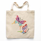 Watercolor Butterflies Canvas Tote Bag