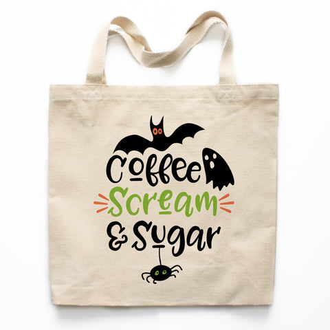 Coffee Scream and Sugar Canvas Tote Bag
