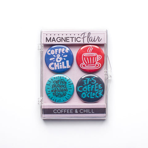 Coffee & Chill Magnet Set