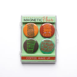 Coffee Wake Up Magnet Set