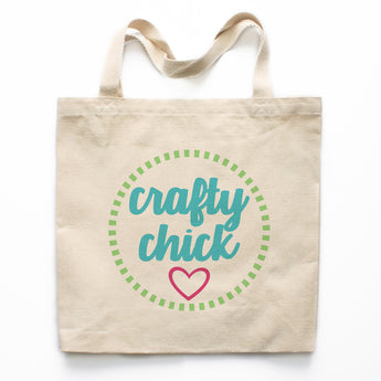 Crafty Chick Canvas Tote Bag