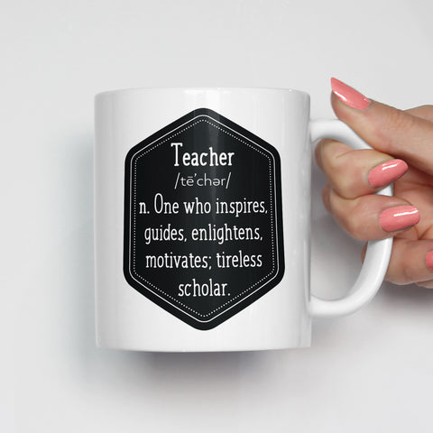 The Definition of a Teacher Mug