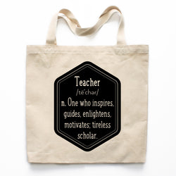 The Definition Of A Teacher Canvas Tote Bag