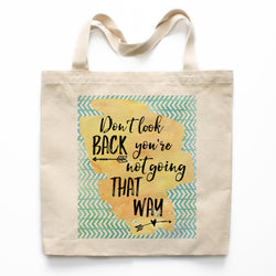 Don't Look Back Canvas Tote Bag