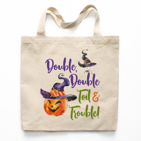 Double Double Toil and Trouble Canvas Tote Bag