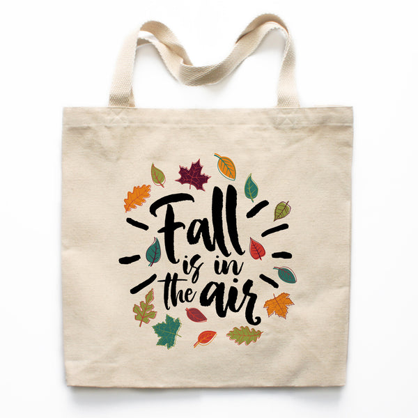 Fall is in the Air Canvas Tote Bag