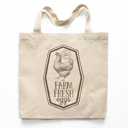 Farm Fresh Eggs Farmer's Market Canvas Tote Bag