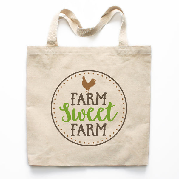 Farm Sweet Farm Canvas Tote Bag