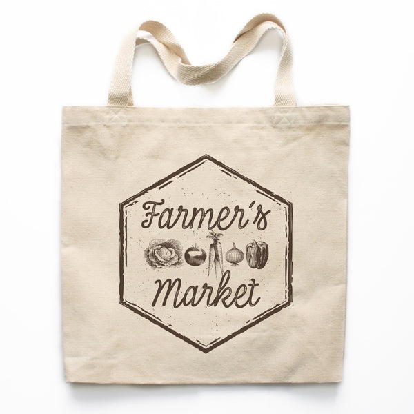 Farmer's Market Canvas Tote Bag