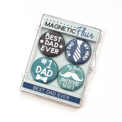 Best Dad Ever Magnet Set