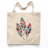 Watercolor Feathers Canvas Tote Bag