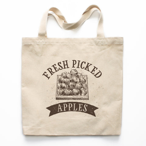 Fresh Picked Apples Canvas Tote Bag