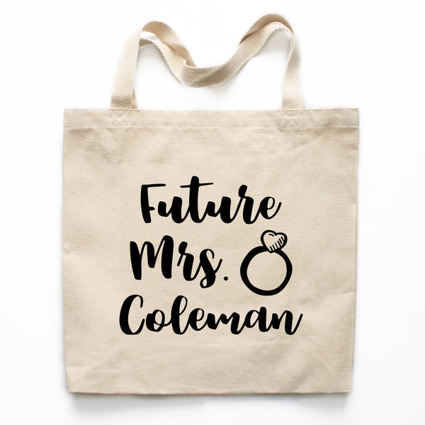 Future Mrs Engagement Canvas Tote Bag