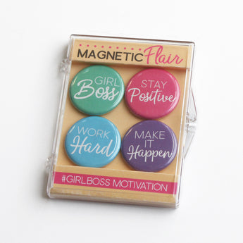 Girl Boss Motivation Magnet Set
