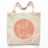 Girl Boss Canvas Tote Bag